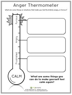 Feelings Thermometer Printable - A good way to discuss ...
