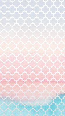 Geometric Pattern Watercolor | free iPhone 6s wallpaper
