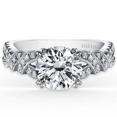 e015cd23e Kirk Kara Pirouetta 18K White Gold Diamond Twist Engagement Ring ·  K1330DG-R · Ben