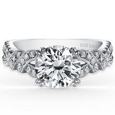 Kirk Kara Pirouetta 18K White Gold Diamond Twist Engagement Ring · K1330DG-R · Ben Garelick Jewelers