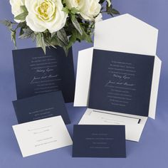 Blue and White Wedding Ideas - Blue and White Wedding Invitations