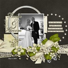 for Kris and Adolfo's wedding scrapbook.  Gorgeous!  From www.sweetshoppecommunity.com #weddingscrapbooks