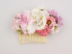 Flores para el pelo - Peineta con Flores - hecho a mano por LolaWhite en DaWanda