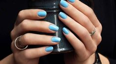 For these moments when you don't have time (or money) for a professional mani, the next best thing is DIY. All you need is a few tools and nail polish to do a perfect manicure at home. Manicure At Home, Luxury Nails, Elegant Nails, Nail Designs, Nail Polish, Nail Art, Makeup, How To Make, Baby Blue