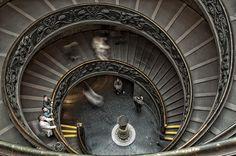 Escalera Bramante de Miguel Angel, Museo Vaticano, Roma