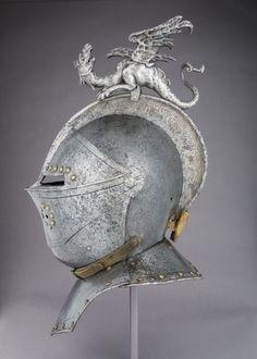 "warpedmind01:  ""Close Helmet, French, ca. 1610, housed at the Metropolitan Museum of Art.  """