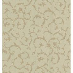 "Brewster Home Fashions 33' x 20.5"" Scroll Wallpaper"