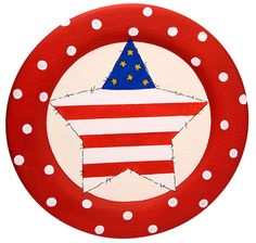 Patriotic Plate project from DecoArt