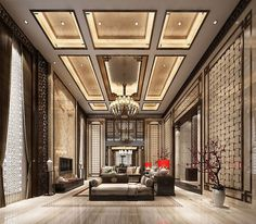 27 luxury Interior Design living Room The plan of the doorway demands the exact same careful selection as the organization of the inside of the home or apartment. When it has to do with interior design, there are so many choices! Ceiling Design Living Room, False Ceiling Design, Interior Design Living Room, Interior Office, Diy Interior, Contemporary Interior Design, Luxury Interior Design, Contemporary Garden, Contemporary Architecture