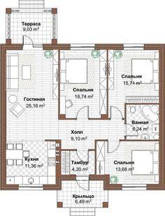 Фотография My House Plans, Modern House Plans, Small House Plans, House Floor Plans, Interior Design Layout, Layout Design, House Construction Plan, Home Design Plans, House Layouts