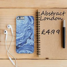 "Blue Wave Marble Design Phone Case✔ Apple and Samsung Galaxy Model ✔£4.99 ✔WorldWide Shipping use discount code ""pinterest123"" to get 10% off at checkout"