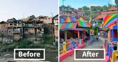 Ένα χωριό της Ινδονησίας έγινε πολύχρωμο και βγήκε από την αφάνεια (εικόνες)