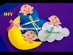Ronycreativa blog de manualidades: 3 Hermosos distintivos de foamy en 3D para Baby Shower, Bautizo o Primera Comunión