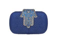 Fatima Clutch - Blue | Haute Arabia