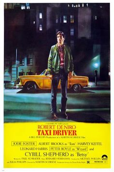 TAXI DRIVER movie poster CLASSIC ROBERT DE NIRO new york city DRAMA 24X36 -PY2