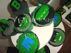 Fofurices da Ritoca: Cupcakes do hulk!