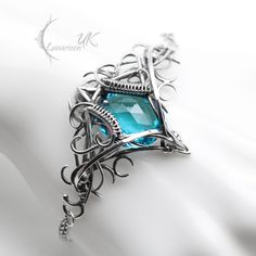 IZYRNIALL - silver and blue quartz by LUNARIEEN.deviantart.com on @DeviantArt