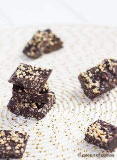 Chocolate Quinoa Crunch Bars Gluten-free + Quinoa Recipes