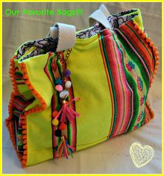 Mexican Blanket Aguayo reversible bag