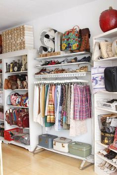Beth's Beautiful Vintage Clothing Studio Creative Workspace Decor Style Home Decor Style Decor Tips Maintenance Room, Clothing Studio, Interior, Home, Closet Bedroom, Vintage Closet, Creative Workspace, Room Inspiration, Home Deco