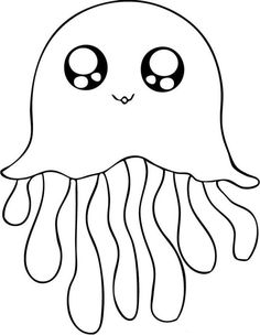 cute jellyfish coloring pages animal coloring pages of pagestocolor - Easy Animal Pictures To Draw