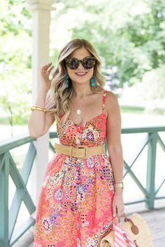 Suburban Faux-Pas by Krystin ( Cozy Fashion, Spring Fashion, Feminine Fashion, Paisley Print Dress, Striped Scarves, Fashion 2020, Cute Outfits, Style Inspiration, Summer Dresses