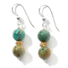 Jay King Anhui Turquoise and Citrine Drop Earrings   HSN Price: $49.90  Appraised Value: $81.00