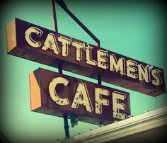 Cattlemen's Steakhouse, in the historic Stockyards - Oklahoma City, Oklahoma --our family has eaten there for decades. Sentimental favorite always.