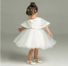 US STOCK Girls Dress White Lace Tassel Hem Princess Party Size 4-8