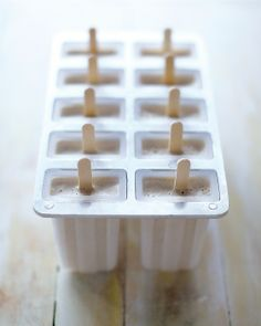 Date Shake Popsicles: Stow these creamy, cinnamon-spiced yogurt pops in your freezer for those times that you crave something sweet, Wholeliving.com