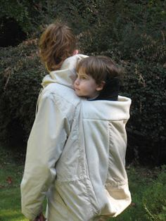 The Pure Baby: A Homemade Babywearing Coat for The Pure Baby. DIY back carry baby wearing cost modification