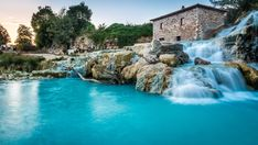Natural spa with waterfalls in Tuscany, Italy best things to see in Italy