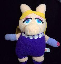 Disneyland Miss Piggy Pook A Looz Plush Fleece Soft Toy Stuffed Muppets #Disney