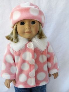 Fashion Doll Leopard Zippered Coat Fit for 18/'/' AG American Doll AG//Gotz Doll