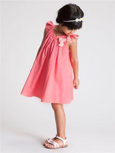 Festliches Blumenmädchen-Kleid mit Schleife KORALLE