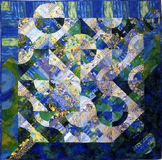 Reflections of Provence Art Quilt by Louisa L. Smith - Quilt Escapes