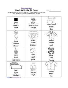 phonics worksheets multiple choice worksheets to print slp stuff. Black Bedroom Furniture Sets. Home Design Ideas