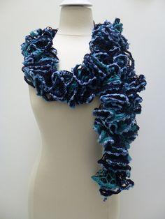 2013 Fashion crochet Ruffle infinity Scarf READY TO by PIPPADUSHES, $20.00