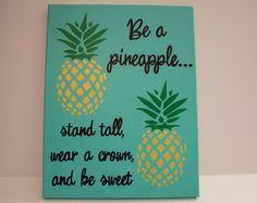 Être un ananas citation Art mur de toile par SimpleSwank sur Etsy
