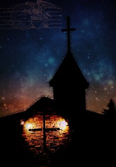 Photo I took of a local church, then digitally manipulated and added different elements to it!