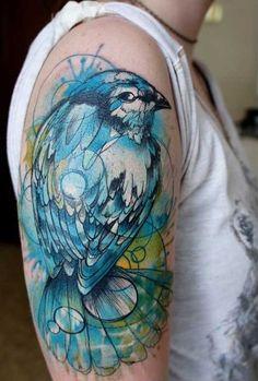 22 Incredible Watercolour Tattoos by Klaim | Smashcave