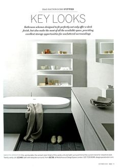 Modulnova bathroom available from DesignSpace London designspacelondon.com Homes & Gardens October 2015