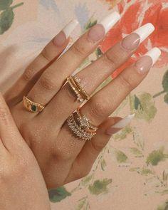 Popular Acrylic Coffin Nails Designs In New Season - huma's ideas Bright Summer Acrylic Nails, French Tip Acrylic Nails, Clear Acrylic Nails, Acrylic Nail Designs, Long French Tip Nails, Summer Nails, Spring Nails, White Tip Nails, Autumn Nails Acrylic