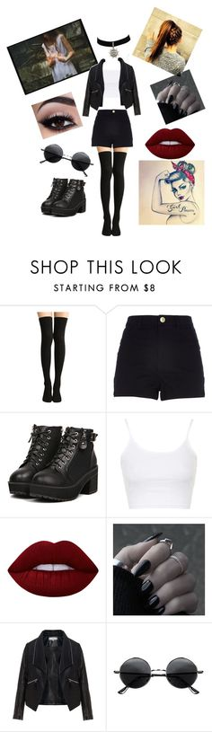 """""""strong and bright"""" by mady1997 ❤ liked on Polyvore featuring Topshop, Lime Crime, Zizzi and Retrò"""