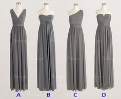 Hey, I found this really awesome Etsy listing at https://www.etsy.com/listing/166811628/gray-bridesmaid-dresses-long-bridesmaid