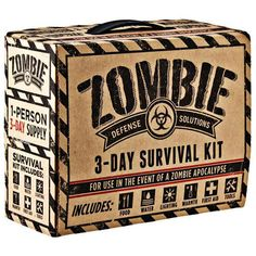 Zombie 3 Day Survival Kit – Great for surviving approx. 3 days after a zombie apocalypse. Disaster Kits, Disaster Preparedness, Survival Prepping, Survival Gear, Survival Skills, Survival Stuff, Survival Quotes, Survival Fishing, Survival Essentials