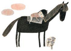 Girl and horse .  Artist  Manon Gauthier . soshallwork.com