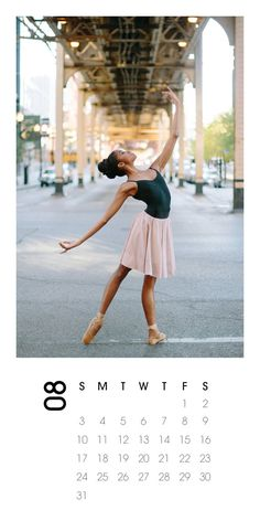 2014 Calendar Ballerina Photography by annawuphoto on Etsy downtown Chicago dancer print calendar gift-ready on etsy