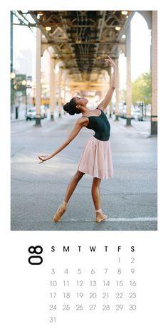 2014 Calendar Ballerina Photography by annawuphoto on Etsy downtown Chicago dancer print calendar gift-ready on etsy