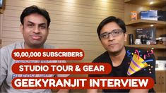 Hindi - GeekyRanjit 1 Million Subscribers Interview Studio Tour & Gear Talk Today our friend GeekyRanjit aka Ranjit Kumar has completed 1 Million Subscribers Milestone on his YouTUbe Channel that was started 6 years back. In this Video we give you a little studio tour but primarily talk about the Camera Gear Audio Setup that helps you upcoming YouTubers. You can Subscribe to GeekyRanjit at https://www.youtube.com/GeekyRanjit Like this Video to Appreciate our Efforts Subscribe to…